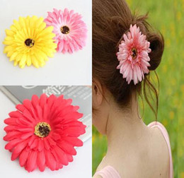 Wholesale 100pcs Kids hair bow clip flowers flower gerbera Hair Children s Hair Accessories hehgr