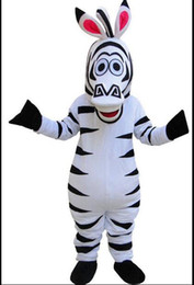 High quality Zebra Mascot Cartoon Animal Mascot Costumes Halloween Costume Fany Dress Adult Size Free Shipping
