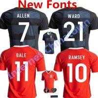 aaron soccer - 2016 Wales Soccer Jerseys Gareth Bale Euro Cup Football Shirts Aaron Ramsey Neil Taylor Allen Home Away camiseta de futbol Wales Kits