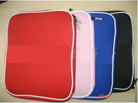 aluminum laptop bag - 50pcs Laptop Sleeve Case Bag For Macbook Aluminum Black Red Blue pink for option