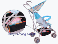 baby carry basket - Baby Stroller carrying Basket Baby Carriage Tray Pram Cart Bottle Diaper Bag Newborn Nappy Bag stroller accessory oxford