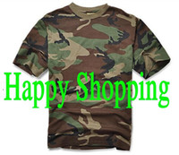 Wholesale Men Summer Short Sleeve Cotton Tactical T Shirt Outdoor Camping Sports T shirts WOODLAND CAMO