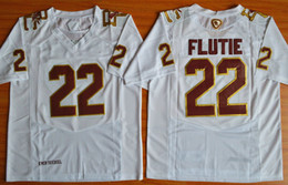 2016 College Eagles Doug Flutie #22 Fenway Event Authentic Performance Jersey men's White College football jerseys