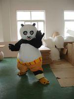 Wholesale Kung Fu Panda Mascot Costume Fancy Adult Dress Halloween Dress Halloween Adult including head body suit gloves