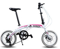 Wholesale L J Sport quot inch Folding Foldable Bicycles bike speed disc braker fast movment on bot wheel and handle Aluminum Alloy frame new