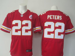Wholesale New CHIEFS PETERS White red mens th Jerseys Elite Stitched Jerseys Mix Order Accept