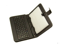 7 pulgadas 8 pulgadas 9 pulgadas 10 pulgadas Tablet Case cubierta protectora inteligente con teclado USB Mini PU de cuero