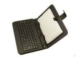 Caso de cuero del teclado del iphone en Línea-7 pulgadas 8 pulgadas 9 pulgadas 10 pulgadas Tablet Case cubierta protectora inteligente con teclado USB Mini PU de cuero