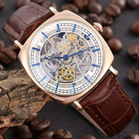 hello kitty watch - Men s Skeleton Watch Leather Strap Automatic Watch mm KT20150809 VC