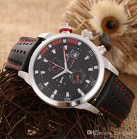 Wholesale New Men s Maurice Lacroix Chronograph Leather Strap Men s Watch mm WL150819