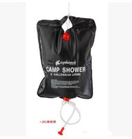 Wholesale Free DHL Outdoor Camp Shower Water Bag Solar Energy Heated PVC L Gallon For Camping Hiking Outdoor Gadgets