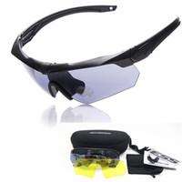 al por mayor gafas ess-2016 gafas de alta calidad TR-90 ESS CROSSBOW, 3lens a prueba de balas ejército tactial gafas con el caso original, gafas de tiro