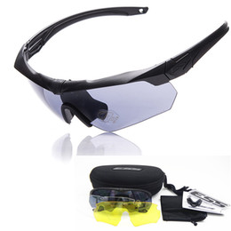 Wholesale 2016 high quality TR military goggles ESS CROSSBOW lens bullet proof Army tactial glasses with original case shooting eyewear