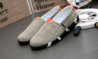 beijing air - Spring and summer air men s casual canvas shoes tide lazy old Beijing cloth shoes grass linen