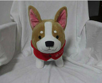 Wholesale Taiwan Hot Sale New Plush Welsh Corgi Dog Toy High Quality Super Cute Brown Standing Dog Doll A Bout cm Kids And Girlfriends Birthday Gift