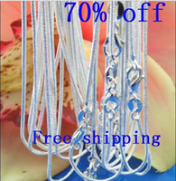 Wholesale Promotion OFF of Silver mm Snake Chain Necklace inch inch