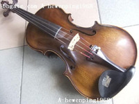 Acoustic Free Shipping Antique Very RARE 1800\'s Violin Old Antique!Top Quality