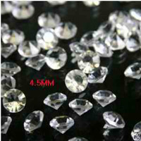 Wholesale 1000 DIAMOND MM confetti gems WEDDING TABLE DIAMONDS DECORATIONS CRYSTALS