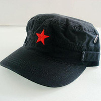 Wholesale Fashion Cotton Men s Hat Embroidered Army Cap Flat Hat New Designer Caps China Star Hats Free