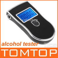 Wholesale Prefessional police digital breath alcohol tester breathalyser black H1912 blacklight blue