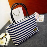 Wholesale Hot Fashion Red Black and White Striped Cheap Canvas Travel Casual Messenger Handbags Shoulder Bags