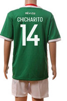 Best Quality Mexico Kids Soccer Jerseys Children Uniform blu...