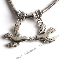Charms dove charm - 100 Hot Sale Tibetan Silver Dove Charms Pendants Have in Stock Fit Necklaces DIY
