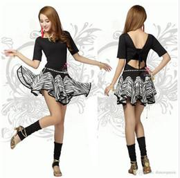 2017 New Latin Dance Dress Women Zebra Regata Feminina Free Size Clothing For Dance Clothes For Dancing Tango Cha Cha Dresses Dancewear