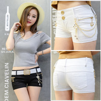 low rise jeans - Han edition of low rise summer fashion denim shorts shorts ms girl shorts and jeans