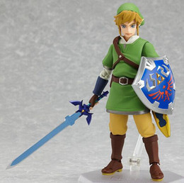 16cm Link Zelda Legend of Zelda Skyward Sword Action Figures Anime PVC brinquedos Collection Model toys