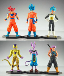 6pcs set 12-14cm Dragon Ball Z Son Goku Vegeta Trunks Action Figure PVC Collection figures toys for christmas gift brinquedos