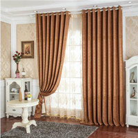 Wholesale European style Window Blackout Curtain Fabric Chenille Jacquard Curtains for Living Room the Bedroom Kitchen MD0006