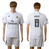 Wholesale Men s Authentic Elited Season Kroos Ramos Varane Pepe Soccer Jerseys Club Home Away Jerseys Mix Order Available