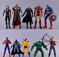 Wholesale 10Pcs set new movie Avengers Captain America Action Figures Super Hero Spiderman Falcons Iron man Collection Toys