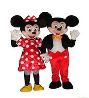 batik dress couple - New Adult Mickey Minnie Couple Mouse Mascot Costume Fancy Party Dress