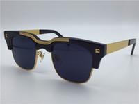 lens optical - new Medusa sunglass Semi rimless sunglass gold plated men brand designer vs427 face logo with original case UV400 lens optical