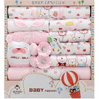 baby cotton layette - NEW Newborn Baby clothes Infant Child gift Sets Baby Layette Sets Kids clothes boy girl Common three colors summer autumn styles