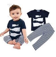 baby daddy shirt - NWT INS Cute Baby Girls Boys Outfits Summer pc Sets piece set Cotton Tops shirt Vest Harem Pants Pajamas shark mummy daddy me