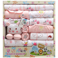 Wholesale Thickened month Newborn Baby clothes sets Infant Child gift Sets Baby Layette Sets Kids clothes boy girl three colors Autumn Winter