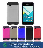 advance pc cases - For BLU Advance L A010U Hybrid Dual Layer Tough Armor Shcokproof Brushed Case Anti skidding TPU PC