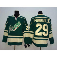 Cheap 2016 Cheap Hockey Jerseys Wild #29 Jason Pominville Green American Hockey Apparel High Quality New Arrival Hockey Shirt Mens Sports Jerseys
