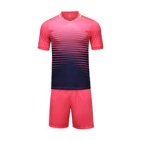pink jersey - 2016 pink with black white with black soccer training bland jersey shirt and short uniform men s jersey Customized name and number team logo