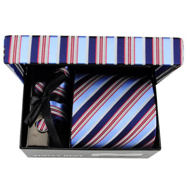 Wholesale Good sellling men's necktie today best colorful twill pattern 100% Korean Silk tie gift box A080