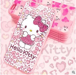 New style Cute Hello Kitty pink color silicone Case For iPhone Back Cover Phone Cases For apple iphone