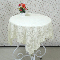 lace tablecloth - Lace Tablecloth Slip resistant Beige Table Cover for Wedding Party Multi purpose Table Cloth Home Decor JM0114 smileseller
