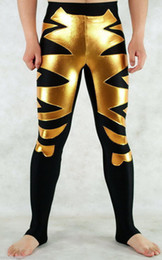 New Gold   Black Lycra Zentai Spandex Sexy Trousers