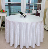 banquet round tablecloth - Table cloth Table Cover round for Banquet Wedding Party Decoration Tables Satin Fabric Table Clothing Wedding Tablecloth Home Textile WT021