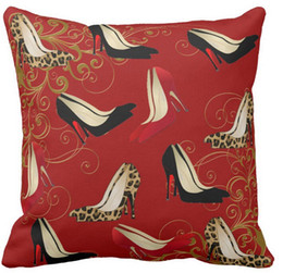 Fashionable stiletto heels decorator throw pillow 50% cotton and 50% linen material color as shown 16x16inch 18x18inch 20x20inch