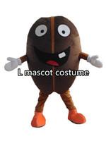 Wholesale Professional Coffee Bean Mascot Costume Adult Size Fancy Dress Cartoon Party Suit