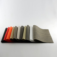 Wholesale Dining Table PVC Placemats One Piece Sale x4 Solid Waterproof Heat Insulated Disc Pads For Home And Restaurant
